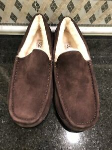 Men's UGG Espresso Brown Ascot Slippers- size 11- #1101110