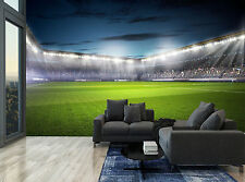 Football Soccer Stadium Lights Cool Wall Mural Photo Wallpaper GIANT WALL DECOR