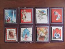 Chicago General Card Co 8 Religious Christmas Cards Vtg Sample Catalog Folder