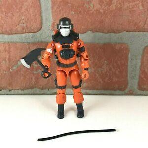 GI Joe BBQ Action Figure Near Complete Firefighter Axe Cobra 1985 Vintage Hasbro