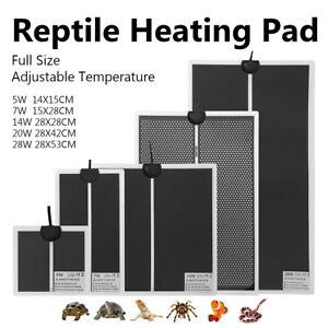 110V-240V Adjustable Pet Reptile Heating Mat Pad Waterproof Warming Heat Mat