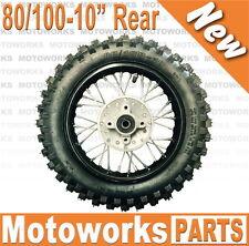 "80/100 - 10"" Inch Rear Back Wheel Rim + Tyre Tire Dirt Pit PRO Trail Bike A"