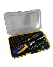 Goodyear 41 Piece 2 Ratchet Screwdriver and Bit Set:Hex,Pozi,Flat,Philips & Torx