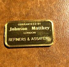 10 Grams Gold Bar Johnson Matthey London  * Mint * Rare *