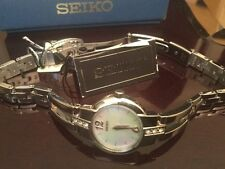 Brand New Woman's Seiko Watch with Hardlex Crystal and Swarovski Elements SUJG45