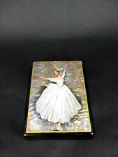 """Russian Lacquer Box """"Ballet"""" with Pearl - Fedoskino hand painted Box"""