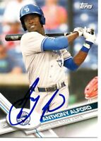 Anthony Alford Toronto Blue Jays 2017 Topps Pro Debut Signed Card
