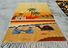 Hand Knotted Bulgaria Pictorial Wool Kilim Kilm Area Rug 4 x 3 Ft (10113 KBN)