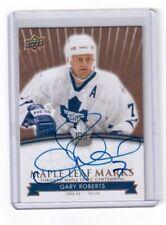 2017 Toronto Maple Leafs Centennial card # MLM-GR Gary Roberts