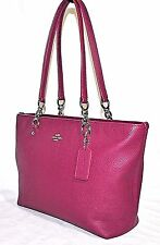 Coach Sophia Small Tote in Pebble Leather, Pre-owned - CYCLAMEN $260