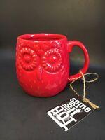 "Red Owl Coffee Mug By Home Essentials 4"" Tall 3.75"" Wide Ceramic"