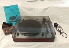 Vintage Thorens Td 146 Turntable with Instruction Manual, Adapter, & Discwasher