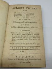 SELECT TRIALS 1741-1764 ANTIQUE BOOK VOLUME 1