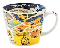 Moomin Valley Map Design Soup Mug Cup Yamaka Japan