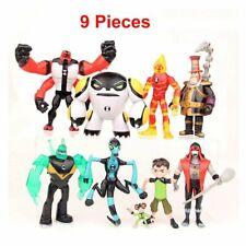 9Pcs Ben 10 Action Figures Ben Tennyson Four Arms Grey Matter Heatblast Toy Gift