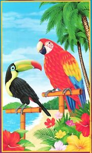 Tropical Scene Setter PARROT TOUCAN DOOR MURAL Luau Party Decoration Prop-42x72