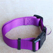 Nylon Dog Collars Small Dogs Pet Cat Adjustable Necklace Collar 4 Sizes 4 Colors