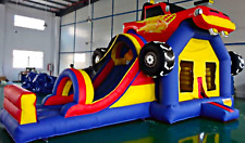 15x20x15 Commercial Inflatable Monster Truck Bounce House Car Water Slide Castle