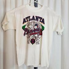 Vintage 1992 Miller Size XL Atlanta Braves 91-92 NLCS Back to Back White T Shirt