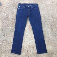 LEVIS 511 - Dark Blue Denim Slim Skinny Straight Jeans, Fits Mens 32 W / 31 L