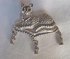 New listing Vintage Silver Tone Faux Marcasite Avon Kitty / Cat on Pillow Pin