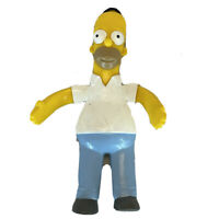"Jesco 1990 The Simpsons Homer Simpson 6"" Bendable Bendy PVC Action Figure Toy"