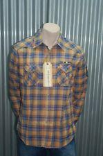 191 Unlimited Orange & Blue Plaid Button-Up NWT M