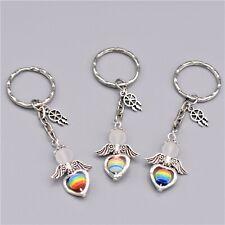 Bastelset 15 Schlüsselanhänger Schutzengel Glücksbringer Perlen Traumfänger