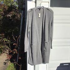 NWT Talbots Gorgeous Gray Long Cardigan Sweater Medium