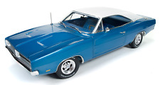 Dodge Charger With Special Cover Car 2011 Blue 1969 1/18 - AMM1100 AUTOWORLD