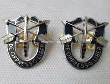 2PCS MILITARIA - SPECIAL FORCES CREST - US ARMY SFG AIRBORNE - SF PIN BADGE