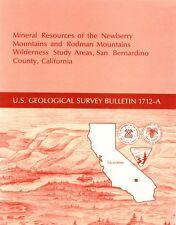 Gold silver mines, Newberry Springs, Daggett, Calif, Mojave Desert, RARE report