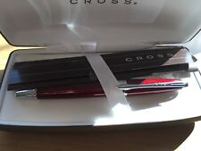 Cross Rolling Ball Pen Titian Red Lacquer & 8523 Refill - NEW