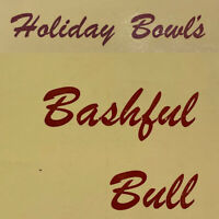 Vintage Bashful Bull Holiday Bowl's Bowling Club Menu Mission Boulevard Hayward