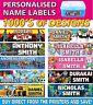 Personalised Kids Vinyl Name Labels - Drink Bottles Lunchbox School 45 labels