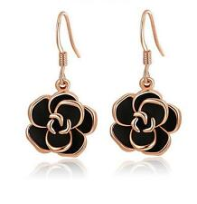 Fashion GP Black Rose Long Drop Earrings For Mother Get It Before Someone Else