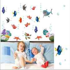 Kids Ocean Bathroom Removable Vinyl Finding Nemo Wall Sticker Decal Home Decor X