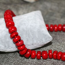 8x10mm natural red coral abacus beads necklace for women high grade jewelry 20''