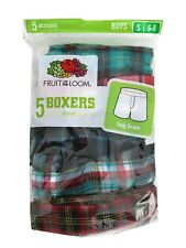 "Fruit of the Loom - Boys' Assorted Boxers, 5-Pack ""TAG FREE & COTTON"" 5PB530"