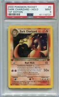 Pokemon Card 1st Edition Dark Charizard Holo Team Rocket Set 4/82, PSA 9 Mint