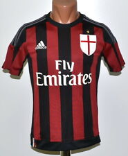 MILAN 2015/2016 HOME FOOTBALL SHIRT JERSEY ADIDAS SIZE L KIDS