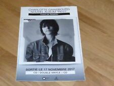 CHARLOTTE GAINSBOURG - REST ! RARE FRENCH PROMO GIANT  POSTER/STICKER !!!!!!!