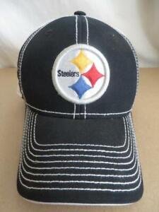 NFL Pittsburgh Steelers Cap Black & White Reebok One Size F/A Adjustable