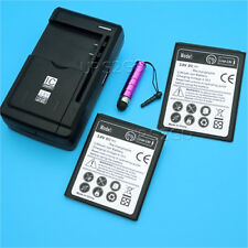 2x 2600mAh Battery Universal Charger Stylus for Samsung Galaxy Exhibit SGH-T599N