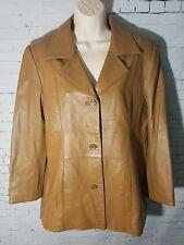 New Leather Jacket Jessica Holbrook Tan Womens Coat Jacket M NWT Brown