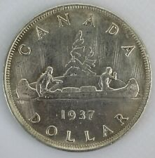 CANADA 1937 KING GEORGE VI SILVER VOYAGEUR UNCIRCULATED ONE DOLLAR COIN C
