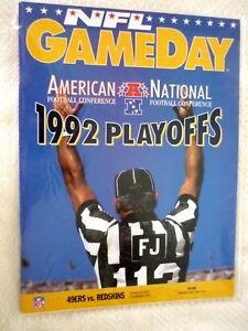 1992 Washington REDSKINS @ San Francisco 49'ers PLAYOFF Game Program - MINT
