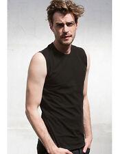Figurbetonte Ärmellose Herren-T-Shirts aus Baumwolle ohne Mehrstückpackung