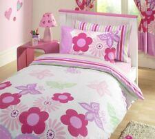 Sunny Days Pink Butterfly Flowers Junior Bed Duvet Cover Set 120cmx150cm