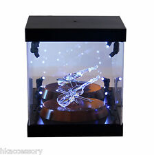 Acrylic Display Case LED Light Box for Swarovski Crystal Hippo Mother with Baby